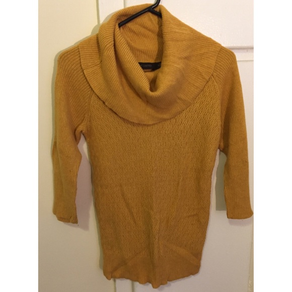 58% off The Limited Sweaters - Mustard Cowl neck sweater from ...